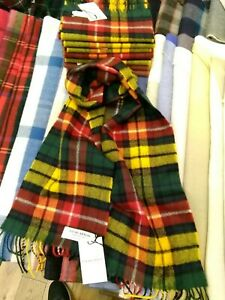 100% Lambswool Scarf by Lochcarron   Buchanan Modern   Made in Scotland   Tartan