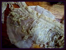 Delicate Gossamer Ethereal Antique Ultra Fine Hd-Knotted Silk Fringe Lace Trim