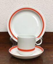 Rosenthal Duo Electric Orange -Ambrogio Pozzi- Gedeck Kaffee Tasse Teller 3tlg