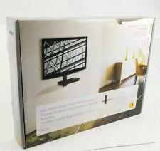 OmniMount Low Profile Wall Mount Single Shelf MOD1 Black For Thin TVs & DVD