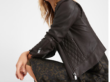 Banana Republic HERITAGE COLLECTION:Quilted Leather Moto Jacket, NWT,orig$599