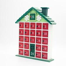 Wooden Christmas House Countdown Advent Calendar Christmas Storage Box