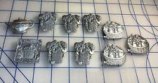 10 Longaberger Refrigerator Pewter Basket Magnets Lot