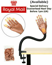 Makeup Nail Art Training Hand Adjustable Size Practice Model Tool Gel Tips UK