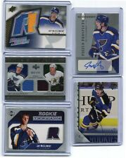 05-06  JAY McCLEMENT  5 CARDS ROOKIE LOT , ROOKIE AUTO + JERSEY + YOUNG GUNS