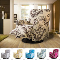 Floral Print Elastic Recliner Chair Cover High Stretch Massage Chair Sofa Cover