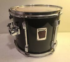 """90's LUDWIG ROCKER  12"""" X 10""""  BLACK TOM DRUM  Made in USA MAPLE SHELL"""