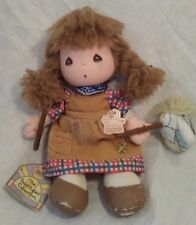 VTG 80's Precious Moments Wendy Rag Doll Applause Plush Toy Horse Beatitude Co