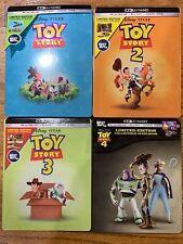 Pixar Toy Story Best Buy Steelbook 4 Movies Set Lot 1 2 3 4 1-4 4K Uhd + Blu ray