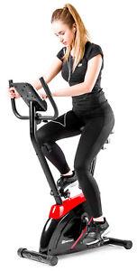 Heimtrainer Onyx von Hop-Sport Ergometer Fitnessgerät Fitnessbike rot