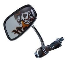 Chrom Motorrad Lenkerendenspiegel Spiegel für links und rechts einsetzbar