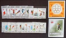 ALBANIA 1975-76 OLYMPICS, Perf + ImPerf MNH** Sheets + Sets, Jeux-Olympiques