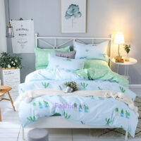 Cactus Single/Double/Queen/King Size Bed Quilt Doona Duvet Cover Set Pillow Case