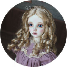 "QQ4-49A BJD Doll Synthetic Mohair Wig   *Autumn Fruit* elegant Large Curv 7-8"""