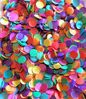 WEDDING CONFETTI - TISSUE PAPER - TOSSING THROW MULTI RAINBOW - MINI 1CM CIRCLES