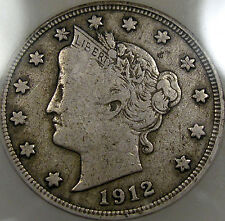 1912-S Liberty Nickel Choice ICG F-12... Very Nice and Original, a Great Coin!!!