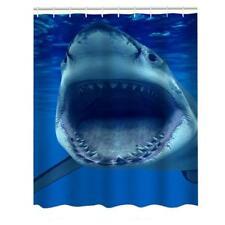 Shower Curtain Bathroom Liner Waterproof Mildew 3d Shark Bath Polyeaster Vinyl