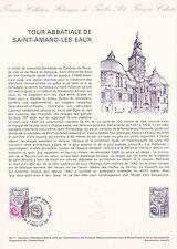 Document Philatélique Timbre  1er Jour : 17/09/ 1977 - Tour Abbatiale St Amand