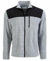Greg Norman Mens Sweater Gray Size Medium M Colorblock Marled Full Zip $70 #068