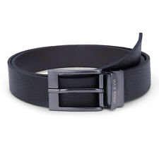 Armani Jeans Belt Men's Reversible Black Belt, One Size Fits All | Brand New