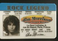 Jim Morrison novelty Drivers License ID card The Doors Hotel Light My Fire Rock