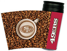 NEW SAN FRANCISCO 49ERS LATTEAM COFFEE ART 16oz TRAVEL TUMBLER