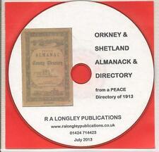 Orkney & Shetland Directory & Alamanck 1913 [CD]