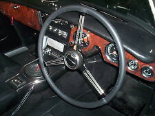 FITS FORD CONSUL MK1 1951-1956 REAL BLACK ITALIAN LEATHER STEERING WHEEL COVER
