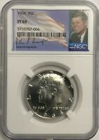 1964 NGC PF69 PROOF KENNEDY HALF DOLLAR BRIGHT WHITE COIN 50C