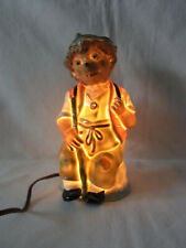 Vintage German Porcelain Perfume Lamp Night Light Mecki Man Hedgehog  #^