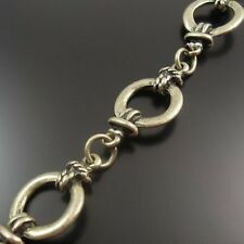 32421 Antiqued Bronze Vintage Alloy Necklace Bracelet Alloy Circle Link Chain 1M