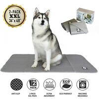 NEW Washable Pee Pads for Dogs Reusable Puppy Training Pads Extra X-Large 2 Pack