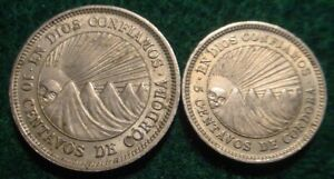 2 NICARAGUA COINS 1965 5 & 10 CENTAVOS