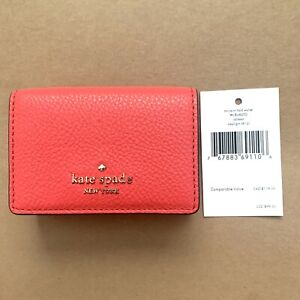 Kate Spade Jackson Micro Tri Fold Woman Small Leather Wallet WLRU6200 NEW