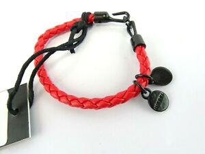 DIESEL AVORE BRACCIALE Mädchen Armband Leder Damen Hakenverschluss Bracelet