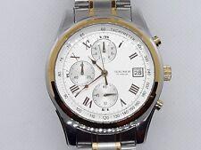 Reloj De Pulsera SEKONDA para hombre Caballeros de Plata y Oro Cronógrafo 3878-Nuevo