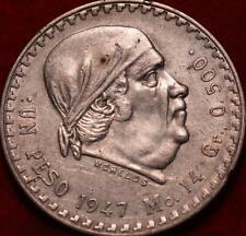 1947 Mexico 1 Peso Silver Foreign Coin