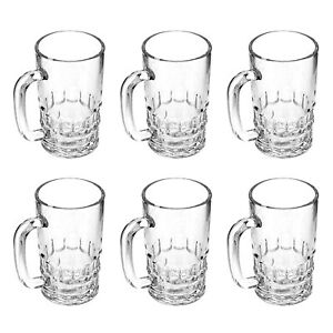 Delcasa 6PC Beer Tankards Dimpled Glasses Steins Pint Tall Juice Glass 380ML