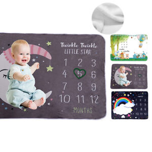Baby Milestone Blanket Monthly Photography Photo Prop Blanket Best Baby Gift US