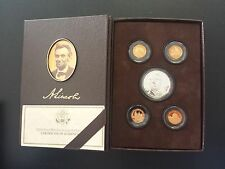 2009 Abe Lincoln Coin & Chronicles Silver & Bronze 5-Coin Proof Set Bruised Box