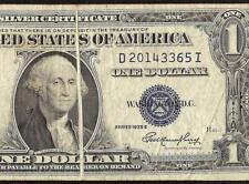 1935 E $1 DOLLAR BILL GUTTER FOLD ERROR NOTE SILVER CERTIFICATE OLD PAPER MONEY