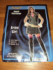 NWT Spirit Army Girl HALLOWEEN COSTUME Womens Small 6/8 6 8