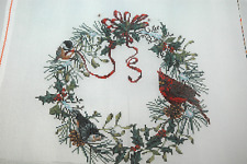 """Needle Point Canvas-Handpainted--""""Holiday Wreath"""""""