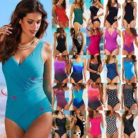 Womens Bandage Monokini Push Up One-Piece Swimwear Beach Bathing Swimsuit Bikini
