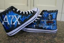 AVENGED SEVENFORD INSPIRED CUSTOM HAND PAINTED HIGH TOPS MADE TO ORDER