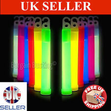6 inch Neon Glow Sticks, Various Colour's Available TOP Product UK Seller