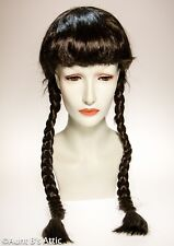 Dorothy Wig Br Synthetic Hair Braided Pigtail Character Costume Wig W/ Bangs