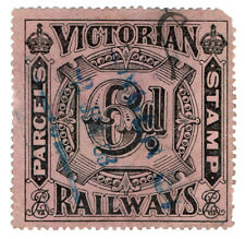 (I.B) Australia - Victoria Railways : Parcels Stamp 6d (inverted watermark)