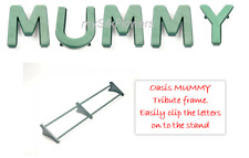 MUMMY Funeral Flowers Oasis Frame and Letters Tribute Naylorbase with Stand