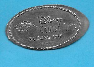 DISNEY CRUISE LINE 1998 SAILING MICKEY WAVE LOGO PRESSED RETIRED PENNY QUARTER